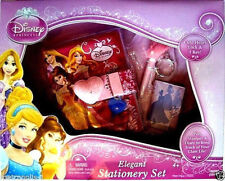 DISNEY PRINCESS GIRLS DIARY,W/ HEART LOCK & KEY,NOTEBOOK,PEN,STATIONARY SET,NEW