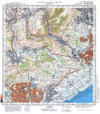 Russian Soviet Military Topographic Map -CWMBRAN (U.K.), 1:50K, ed.1981, REPRINT