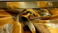 BEAUTIFUL ORANGE GOLD DAMASK CURTAIN UPHOLSTERY FABRIC 2.5 METRES