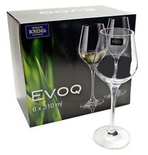 set of  6 Glasses  Bohemia Drinking glass liquor goblets, 310 ml party stem