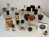 Lot 23 Empty Designer Glass Perfume Cologne Bottles GUCCI DIOR HERMES GUERLAIN
