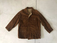 Polo Ralph Lauren Large Leather Hunting Brown Jacket RRL Reversible VTG Coat XL