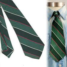 1930s Green Striped Vintage Necktie Art Deco Swing Tie