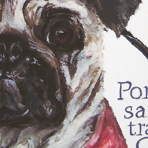 Personalizable Cute Chinese Emperor PUG dog history fine art print