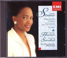 Barbara HENDRICKS: R. STRAUSS Four Last Songs Vier letzte Lieder SAWALLISCH CD