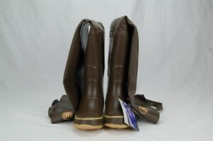 Calcutta Pro Line Boy's Rubber Hip Boots Cleated Outsole Size 4 Brown