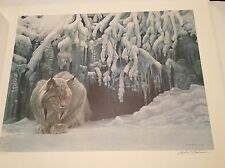Mint Robert Bateman Dozing Lynx Canadensis Signed Low Numbered 35/950 RARE 1987