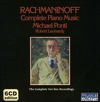 Michael Ponti, S. Rachmaninoff - Complete Piano Music [New CD] Boxed Set