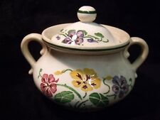 Pretty Antique  Villeroy & Boch Dresden Saxony 'The Coruna' Poppies Sugar Bowl