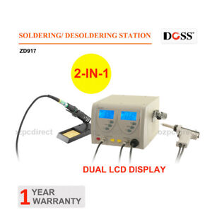 DOSS ZD917 2IN1 Soldering Desoldering Station 60W + 80W Dual LCD Display Screen