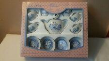 Sumco 12 Pc Blue Willow China Tea Set Play Set