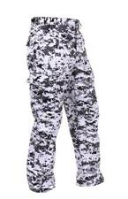 Military Style Digital Camo BDU Pants Military Fatigues, City Camouflage, LARGE