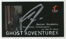 Aaron Goodwin SIGNED Business Card! Ghost Adventures! Paranormal Investigator!