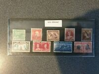 old new Zealand stamps - set of 9