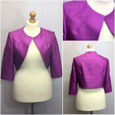 Alexon Ladies Purple 3/4 Sleeve Evening Bolero Jacket Uk Size 20