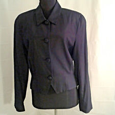 Gianni Sport 10 Suit Jacket Blazer Black fitted
