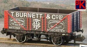 Peco NR-P432 7 Plank Mineral Wagon T.Burnett & Co Ltd, No.1904 Gray N Gauge T48P