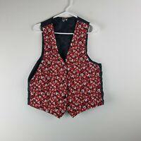 Vintage Disney Men's Small Mickey Mouse Vest Adjustable Black Red