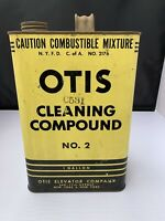 1930's Otis Elevator Company 1 Gallon Cleaning Compound No. 2 Advertising TIN