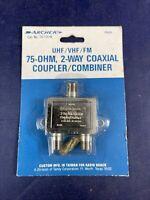 Vintage Archer UHF/VHF/FM 75-Ohm Coaxial Coupler Radio Shack New Old Stock