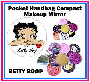 Betty Boop - Sac à Main / Poche Maquillage Miroir Compact - Tout Neuf - Cadeaux