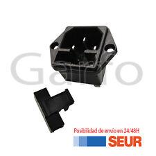 Conector Transformador IEC C14 Chasis Macho Portafusible 15A 250V 2 Tornillos