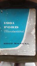 1961 Ford Thunderbird T-Bird Service Shop Repair Manuel Dealership OEM 61