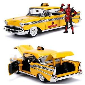 1/24 Jada Hollywood Rides Deadpool Taxi + Figurine Deadpool Livraison Domicile