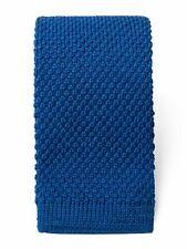 Uni blau Wolle Krawatte