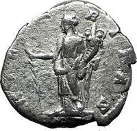 JULIA DOMNA 196AD Genuine Authentic Ancient Silver Roman Coin Hilaritas i60312