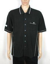 Lacoste Sport la Vieja Escuela Vintage Negro Camisa Polo Tamaño XL raras (ST302)
