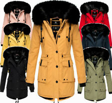 Navahoo Damen Winter Jacke Parka FVS4 Stepp winter Mantel Kunstpelz LULUNA