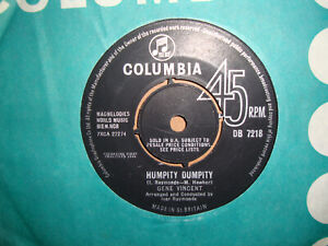 GENE VINCENT,  HUMPITY DUMPITY,  COLUMBIA RECORDS 1964