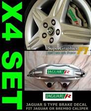 Type 'R' to fit Jaguar caliper Repair sticker decal cut for S Type GrnRedSil x4