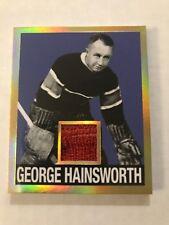 2017-18 Leaf Hockey Cards GEORGE HAINSWORTH Patch 1948 Retro Vintage 1/1 Gold