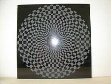 Handmade Art Sandblast Checkerboard on Black Granite   Gift tile only