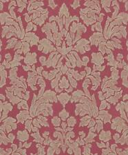 Red Gold Baroque Wallpaper Metallic Floral Paste Wall Feature Rasch Belleville
