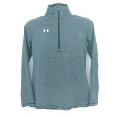 Under Armour Mens Small S Stripe HeatGear 1/2 Zip Pullover Performance Shirt Top