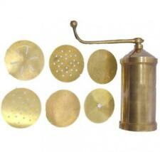 Tabakh Sev Sancha Manual Pasta Maker, Brass Gold