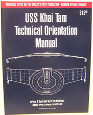 1994 USS Khai Tam Technical Orientation Manual- Star Trek/Klingon Hybrid Ship
