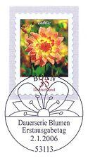 BRD 2006: Die Dahlie! Selbstklebende Nr. 2514 mit Bonner Sonderstempel! 1A! 1804