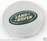 LAND ROVER DISCOVERY 2 1998 04 ALLOY WHEEL SILVER CENTRE CAP - 63MM-LR001156