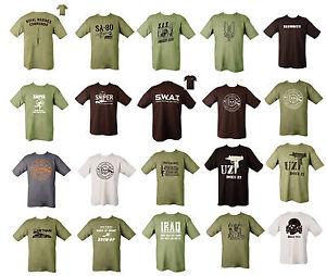 Military Army Combat Printed Taliban T-shirt Security Iraq Willys SAS US British