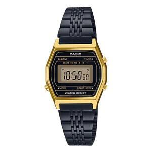 Orologio Donna Casio Vintage LA690WGB-1DF Acciaio Nero Cassa Oro