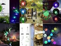 Color Changing LED Solar Powered Wind Chime Light Yard Garden Decor Waterproof