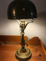 Historical Art Deco Antique Brass Lamp Signed Chateau Frontenac 1893, MB240