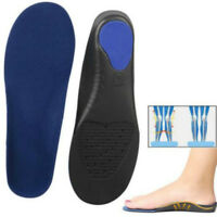 Orthotic Flat Foot Arch Support Cushion Shoe Insoles Heel Pain Relief Inserts GB