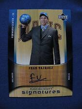2005-06 UD hardcourt #HS-FV Fran Vazquez Magic autograph card $1 S&H Basketball