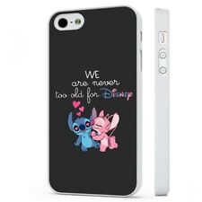 Lilo And Stitch Disney Love WHITE PHONE CASE COVER fits iPHONE
