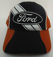 FORD MUSCLE CAR TRUK ADJUSTABLE CAP RACECAR STITCH TOUGH NEW MUSTANG BLACK BROWN